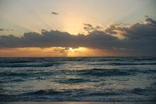 Sunrise Over The Carribean Royalty Free Stock Photos
