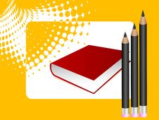 Free Book And Sharp Pencils Stock Photo - 5454340