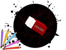 Free Eraser And Pencils Royalty Free Stock Photo - 5454375