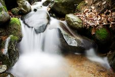 Free Small Waterfall In The Woods Stock Photography - 5454712