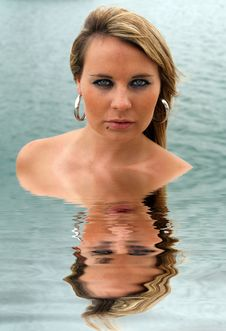 Free Woman In Water Royalty Free Stock Photography - 5454827