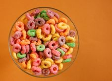 Free Bowl Of Colourful Cereal Stock Photography - 5454962
