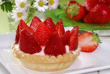 Free Strawberry Cake Stock Photography - 5455182