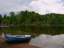 Free Boat At The Lakeside Stock Image - 5455311