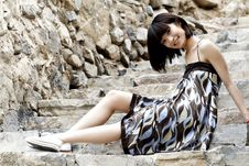 Free A Chinese Girl Royalty Free Stock Photos - 5456048