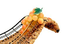 Free Grapes In Backet. Stock Image - 5456071