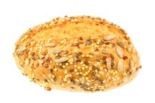 Free Bread Roll On White. Stock Photography - 5456242