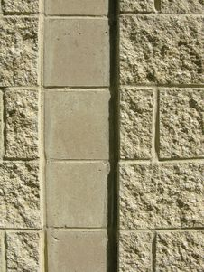 Free Concrete Block Wall With Channel Royalty Free Stock Photography - 5457337