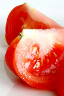 Free Sliced Fresh Red Tomato Royalty Free Stock Images - 5457349