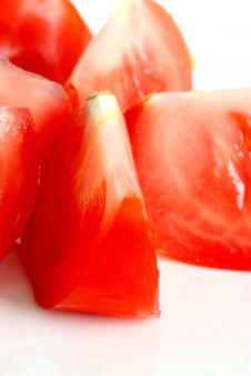 Free Sliced Fresh Red Tomato Royalty Free Stock Photos - 5457358