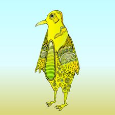 Bird Pattern Yellow