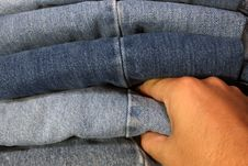 Free Picking Out Jeans Stock Image - 5458041