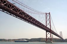 Free Bridge Over Tagus River In Lisbon Stock Images - 5458104