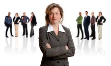 Free Businesswoman And Her Team Royalty Free Stock Photos - 5458648