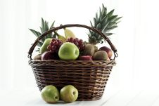Free Basket Of Fruit Royalty Free Stock Photography - 5458707