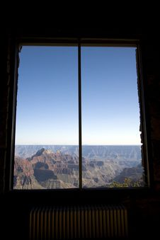 Free Grand Canyon Lodge View Royalty Free Stock Photos - 5458928