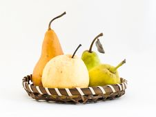 Free Four Types Of Pears Stock Image - 5458961