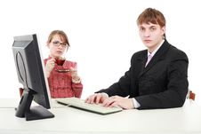Free Computer Consultation Stock Image - 5459571