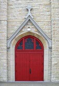 Free Arched Red Door Royalty Free Stock Images - 5459769