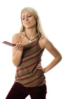 Free Beautiful Blond Woman On Phone Royalty Free Stock Photo - 5459895