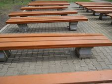 Benches. Royalty Free Stock Image