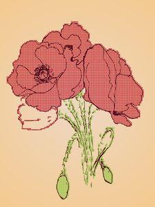 Free Poppy Flowers Sketch Stock Image - 54598301