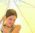 Free Portrait Girl On Umbrella Background Royalty Free Stock Image - 5465066