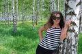 Free Beautiful Girl Near Birch Royalty Free Stock Photo - 5468075