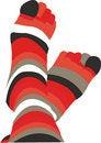 Free Pair Striped  Socks Stock Photos - 5469013