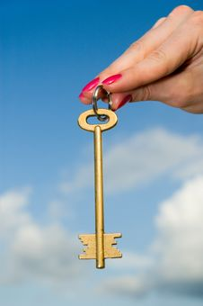 Free Gold Key Royalty Free Stock Photo - 5460145