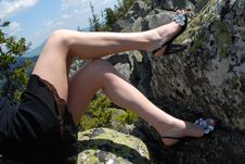 Sexy Woman S Legs Stock Photo