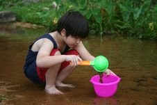 Free Boy At The River Royalty Free Stock Images - 5460539