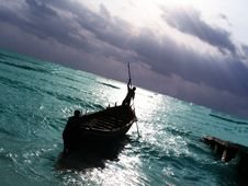 Free Fishing Boat In The Sea Stock Photo - 5460850