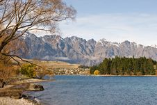 Free The Remarkables And Lake Wakatipu Royalty Free Stock Photos - 5461338