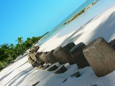 Tropical Barriers Stock Image