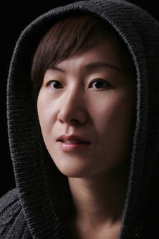 Free Asian Woman With Hood Stock Photography - 5461792