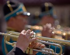 Free Trumpeters Royalty Free Stock Images - 5461799