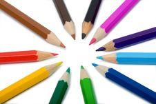Free Pencils Around Closeup Photo Royalty Free Stock Image - 5462166