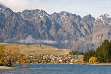 Free Autumn Colors At The Remarkables, Lake Wakatipu Stock Photos - 5462423