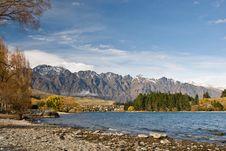 Free Autumn Colors At Lake Wakatipu Royalty Free Stock Image - 5462426