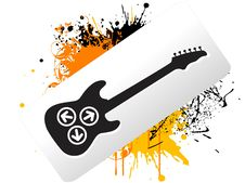 Free Guitar Text-template Stock Image - 5462811