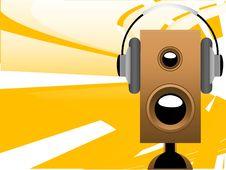 Free Headphone On Loudspeaker Royalty Free Stock Photos - 5462898