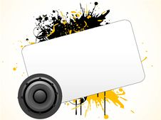 Free Loudspeaker Text-template Royalty Free Stock Photography - 5462967