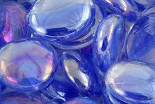 Blue Glass Beads Macro Texture Background Stock Image