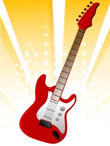 Free Bright Guitar Stock Photos - 5463033