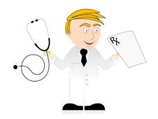 Free Doctor With Prescription Royalty Free Stock Photo - 5463705