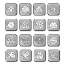 Free Glossy Snowflake Icons Royalty Free Stock Image - 5463916