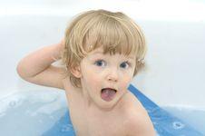 Free Cheerful Boy On White Background Stock Photos - 5464183