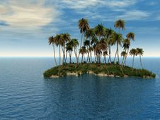 Free Palm Island Stock Photo - 5464330