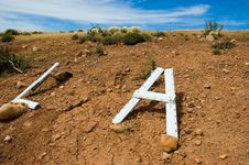 Letters On The Ground Royalty Free Stock Photography